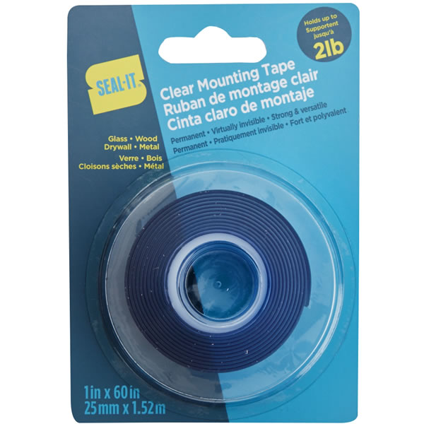 Clear Permanent 2lbs - 1 in. x 60 in., EA